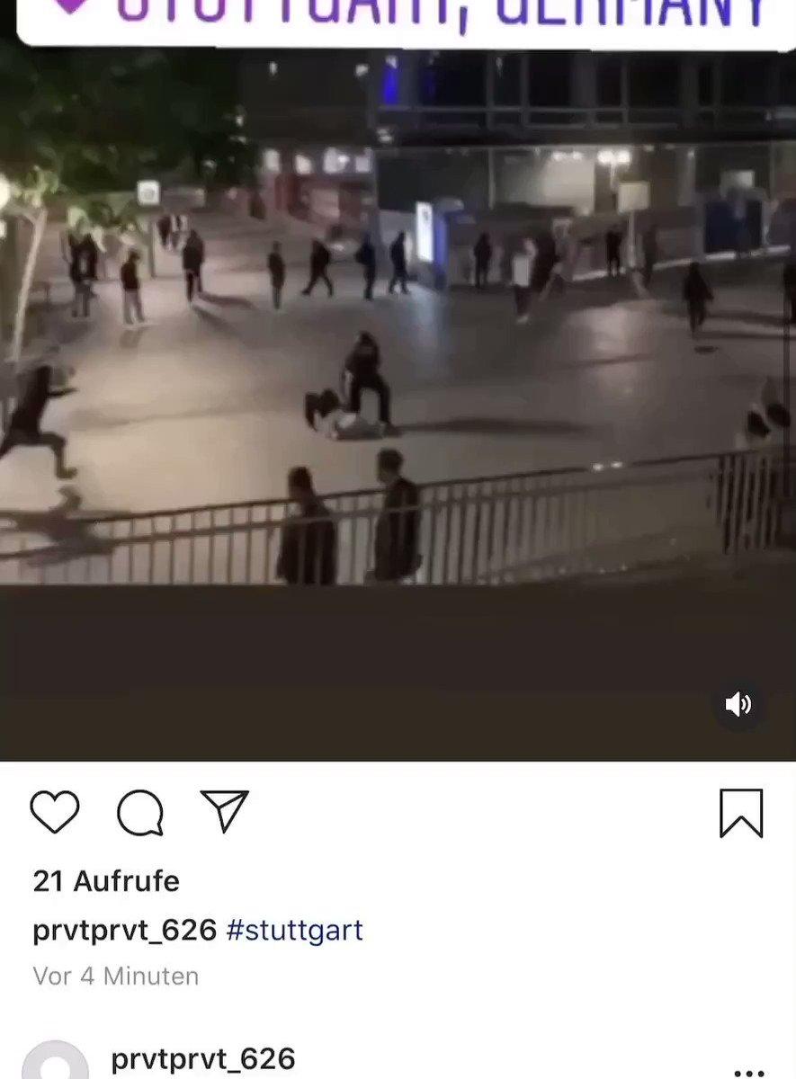 Sowas findet man zu #Stuttgart auf Instagram.   Ich hoffe alle diese Täter werden durch Kamera aufnahmen und Zeugenaussagen vor Gericht stehen und ihre gerechte Strafe bekommen. https://t.co/rOOZdAPBgI