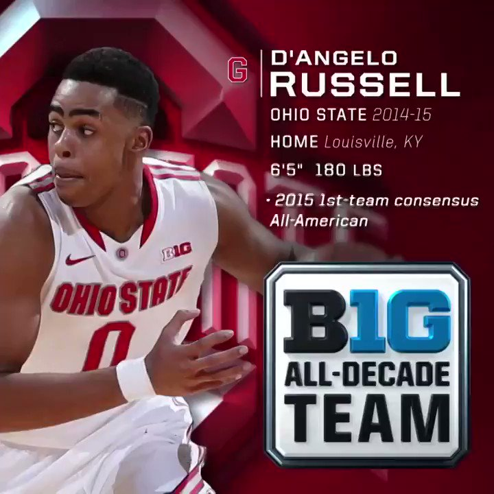 🚨 #BTNAllDecade 3rd Team 🚨  Player: D'Angelo Russell (@Dloading) Team: @OhioStateHoops  Why: ⬇️  More: https://t.co/tJBP1RNQRm https://t.co/9HvgZrFCO7