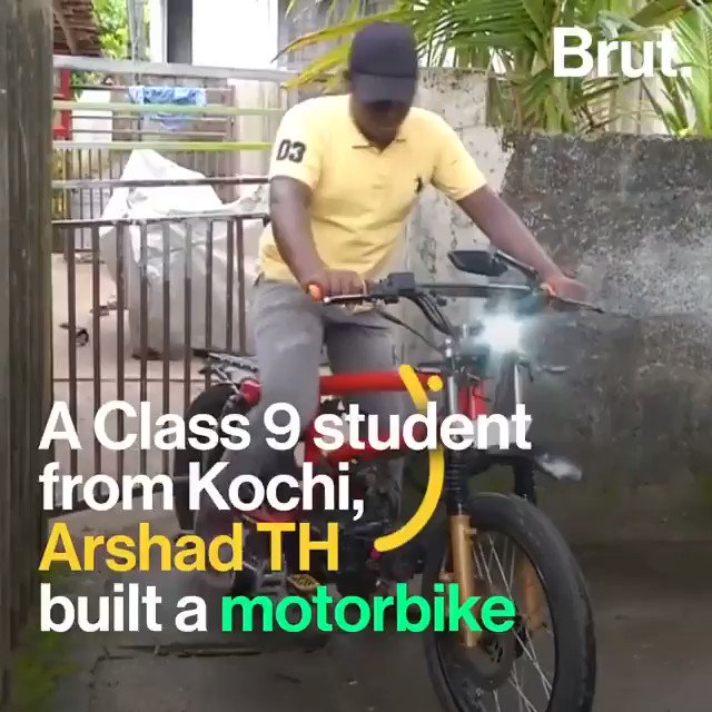 This is truly an amazing example of making good use of time, I wonder what we were doing in Class 9? Not building motorcycles for sure 😁. I'm highly impressed by you kiddo. Good work! . . . 🎥: Times of India #kochi #motorcyclelove #brilliantkids #terrifictuesday #Kerala https://t.co/UyabYxBrPT
