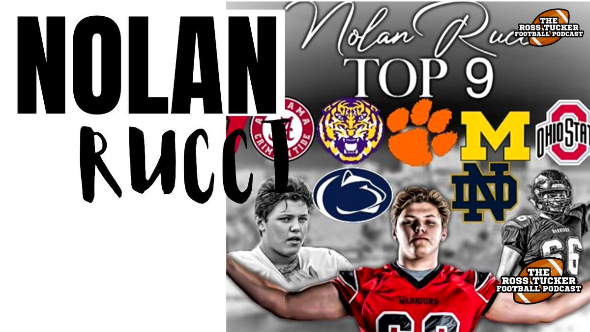 Notre Dame, LSU, Ohio State, Penn State, Clemson, Wisconsin, Michigan, Stanford, Alabama. All incredible opportunities but how is @nolanrucci handling the pressure of making this decision? From latest @RossTuckerPod. Full interview at new YouTube page: youtube.com/channel/UCJnAJ…