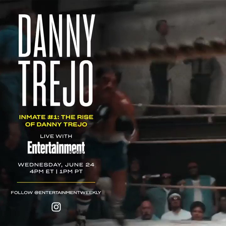 I'll be chatting with the boss @officialDannyT tomorrow via  @EW's IG Live!! We'll be chatting about his emotional new documentary, how to make his famous tacos, and so much more. COME THROUGH, mi gente. https://t.co/RkplXfdHWM