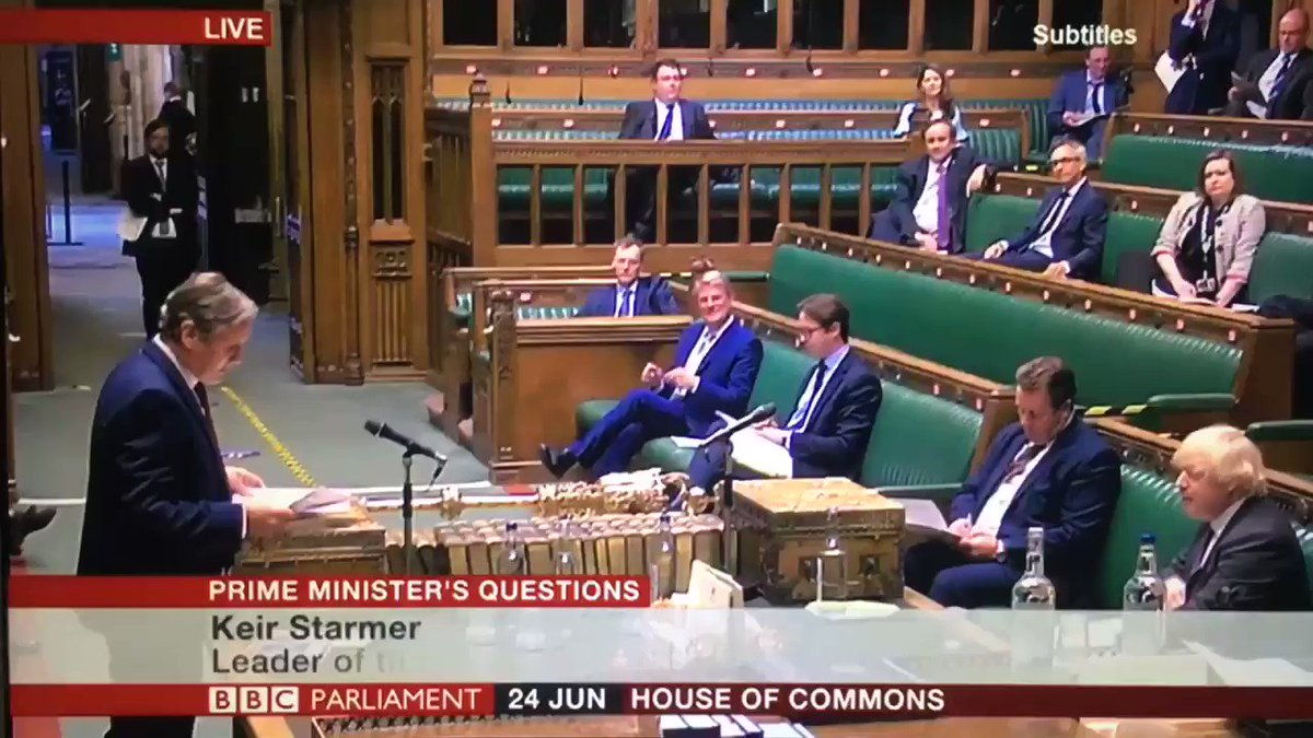 """""""Mr Speaker the figures I gave that the Prime Minister says are inadvertently misleading are the slide at his press conference yesterday!"""" @Keir_Starmer #PMQs https://t.co/2Hc6A2QvIG"""