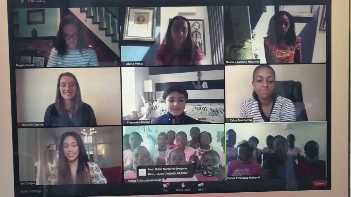 """""""It doesn't feel like a school, it feels like a big family"""" says @TheRealEve about Malaika school! You can join in now to hear the conversation with students and community members in #Congo tinyurl.com/MalaikaSpeaksE…"""