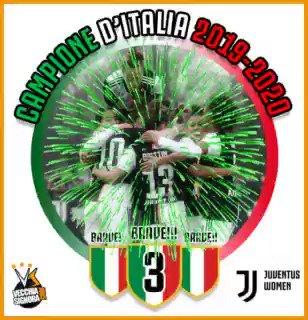 La decisione è finalmente arrivata: #JuventusWomen campione d'Italia 2019/2020 🎉🏆🤍🖤 https://t.co/qut4u106Rc