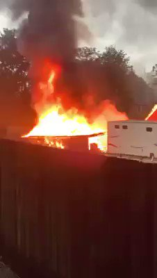 MEOPHAM: A lightning strike set a garage on fire at Meadow Lane in Meopham near Gravesend this morning. Three fire engines were sent around 5:50am this morning. No injuries reported. https://t.co/E0Qkolpcun