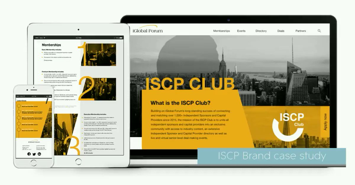 """""""Sometimes total radical change is not what a brand needs, often it needs to love and attention to just tweak it to make it shine.""""  We're are absolutely delighted with the new sub-brand and online platform for ISCP and their financial community. https://t.co/i6bmBnBNk8"""