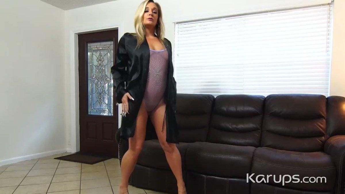 Karups update - Blonde MILF Tucker Stevens @TuckerStevens4u is wearing a sheer bodysuit and high heels before stripping and fingering her older pussy for you. 👉Watch it at Karups.com