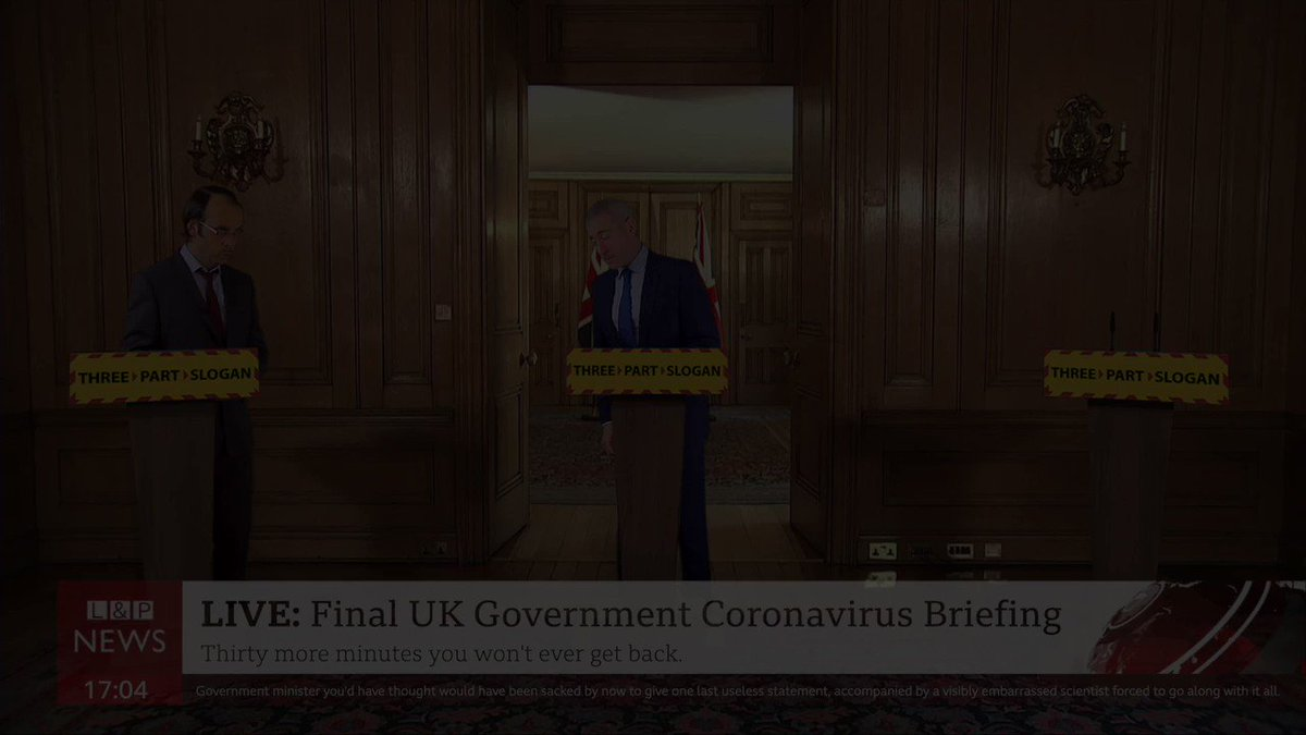 The Final Briefing. FULL SKETCH: youtu.be/bhGx_bDwE8g #coronavirusuk #COVID19 #Covid_19 #DailyBriefing