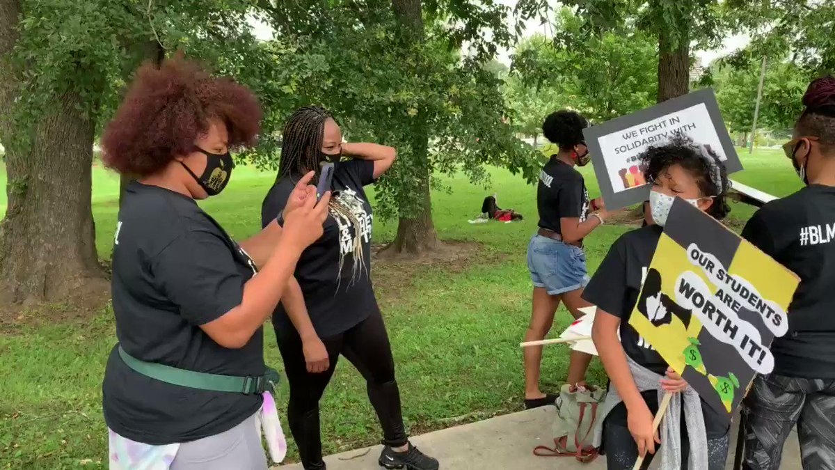 Join us at the Park #BLMatSchool #BlackLivesMatter To Educators March #justicefighter