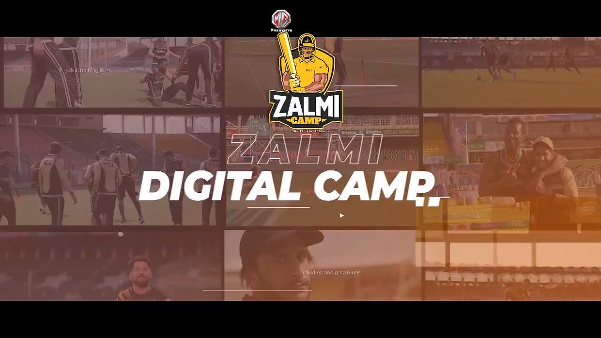 .@MGPakistan Presents Zalmi Camp  Peshawar Zalmi has launched a Digital Training Camp for aspiring cricketers who will get the chance to get reviewed by Zalmi Coaching Panel which consists of Director Cricketing Affairs Muhammad Akram, Head Coach Daren Sammy and Hashim Amla.