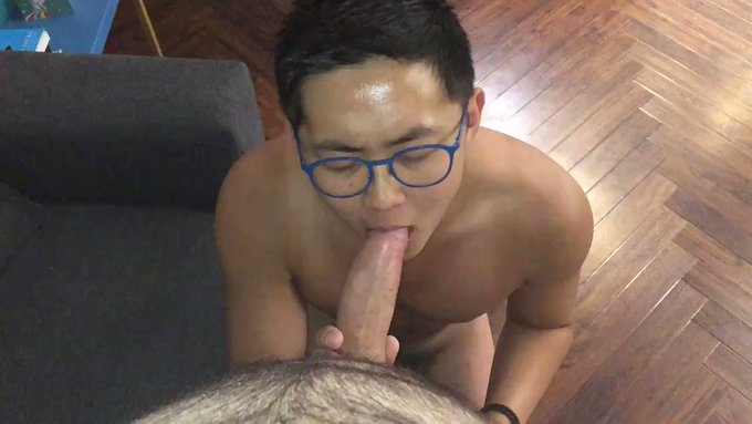 Sucking on my super hot and very sexy hung friend's juicy, thick cock 🤤 Subscribe and watch the full