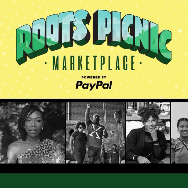 Today's the day! Be sure to tune into tonight's @RootsPicnic Virtual Experience and support these amazing Black-owned #SmallBiz in the #RootsPicnic Marketplace. Shop now from nearly anywhere with PayPal:  https://t.co/C3e8qeonGQ