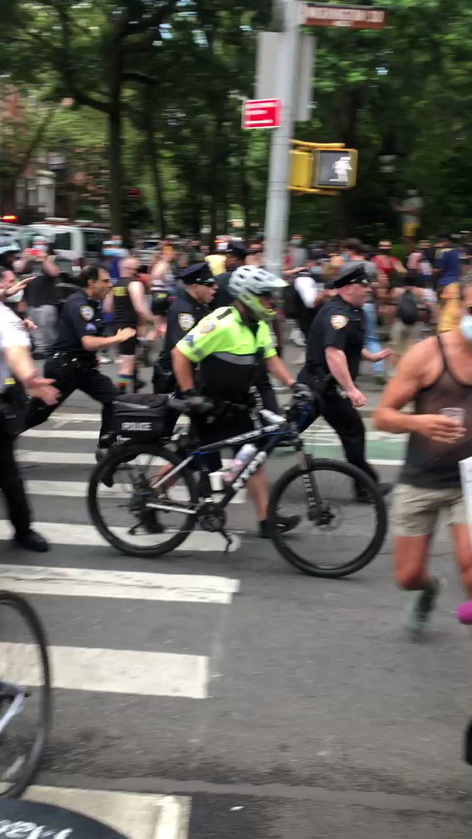 NYPD charging #QueerLiberationMarch protestors. A friend took this particular video.