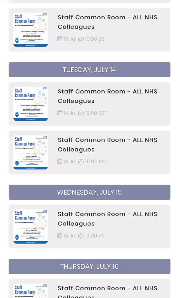 We are hosting a number of events which are accessible to all NHS staff. Please visit our website to view all upcoming events we will be hosting. practitionerhealth.nhs.uk/upcoming-events