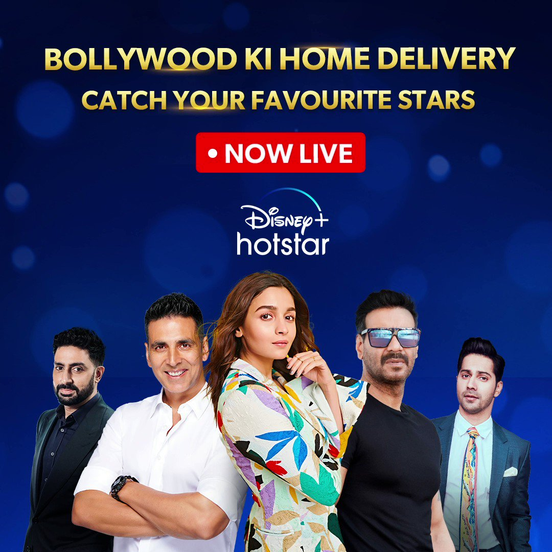 Lights. Camera. Announcement! Watch your favourite stars on @disneyPlusHotstarvip Live as they break the big news on bringing Bollywood straight to your homes!
