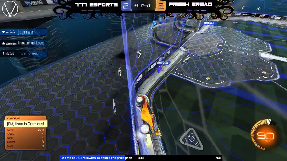 Over the next few days I'll be posting the best goals of Projekt Blvck.   777 Esports EU vs Fresh Bread This one scored in the opening game of the tournament to win it in Overtime!  #rocketleague #esports #tournament #bestgoal #overtime https://t.co/ZVK5QQF8rw