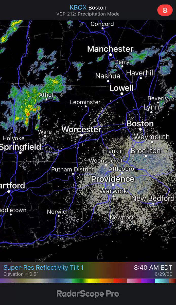 Wasting no time for scattered downpours to pop up outside 495 now.