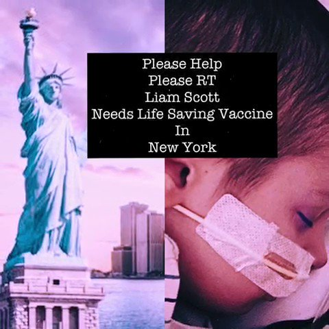 @ugomonye Hi Ugo, please RT for our little warrior who suffers a very rare and aggressive cancer and needs a life saving vaccine in New York. We have little time as reported in the media. Thank you so much 🙏 solvingkidscancer.org.uk/appeal/liam