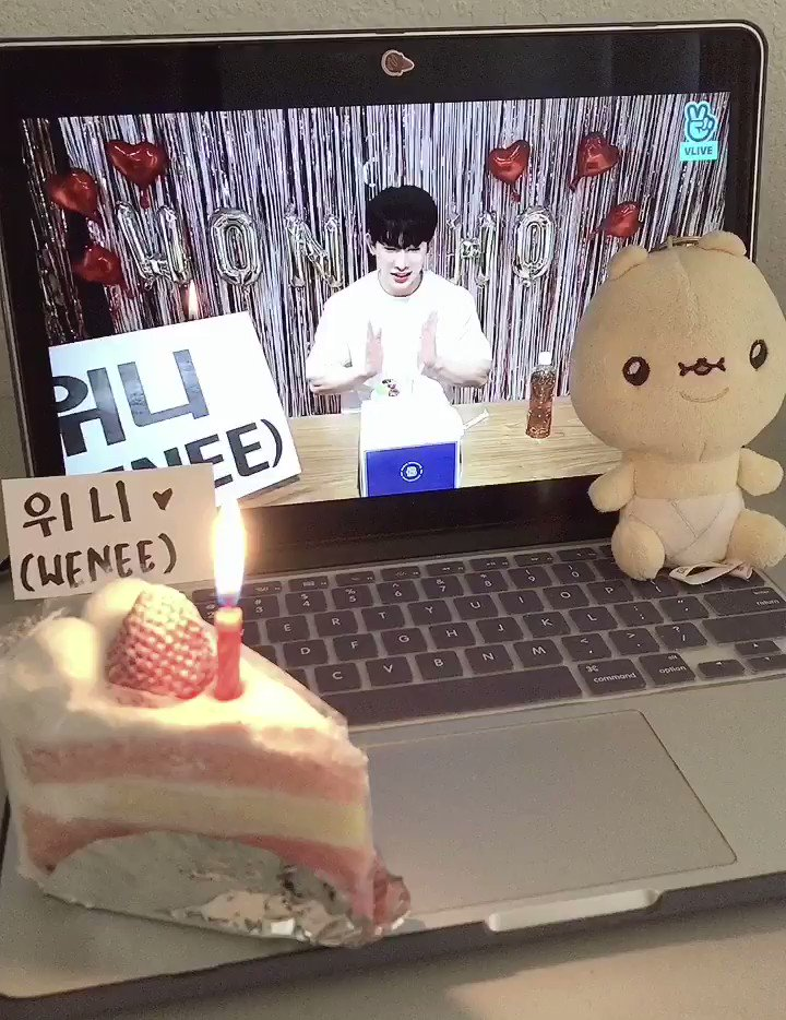 call me extra but I bought a cake to celebrate our fandom name hehe. we will forever be wonho's wenees ♡̆̈  #WeneeWithWonho  @official__wonhopic.twitter.com/MnowExDtH0