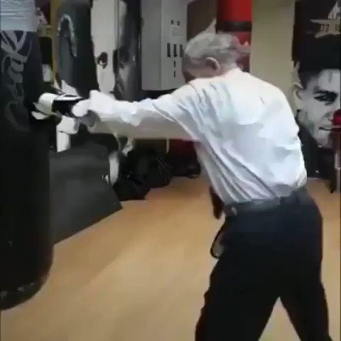 Age is just a number 👇 107 year old former French world champion boxer still has those hands.