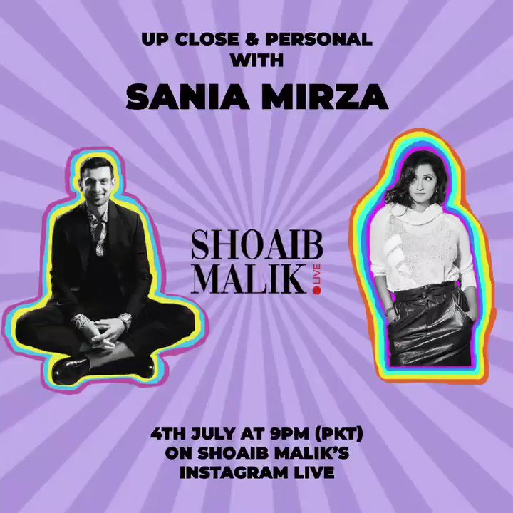 - Hey @MirzaSania, you game for a date night? Say this Saturday, 21:30 your time #ShoaibMalikLive..