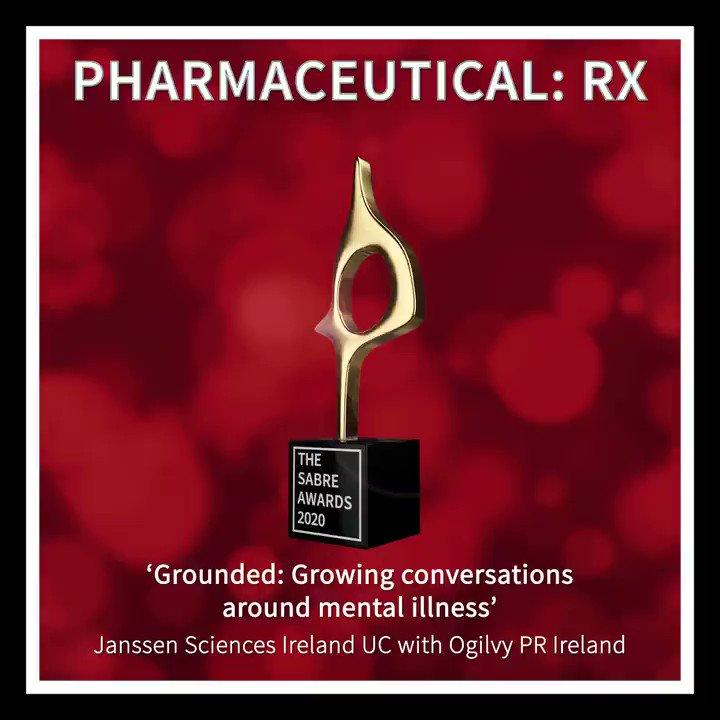 #SABREAwards Winner: PHARMACEUTICAL RX - Grounded: Growing conversations around mental illness' — Janssen Sciences Ireland UC with @Ogilvy PR Ireland