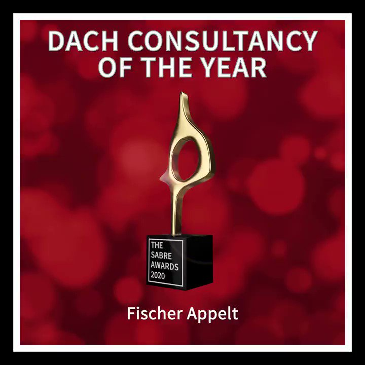 #SABREAwards Winner: DACH CONSULTANCY OF THE YEAR -  @fischerAppelt https://t.co/Wg9vCB4SfX