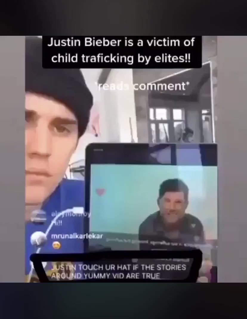 During a live video one of Justin Bieber's fans said to touch his hat if the stories around yummy video are true (pizzagate) and he did it🧢 Even Bieber exposed the truth about the elite pedophile cult.