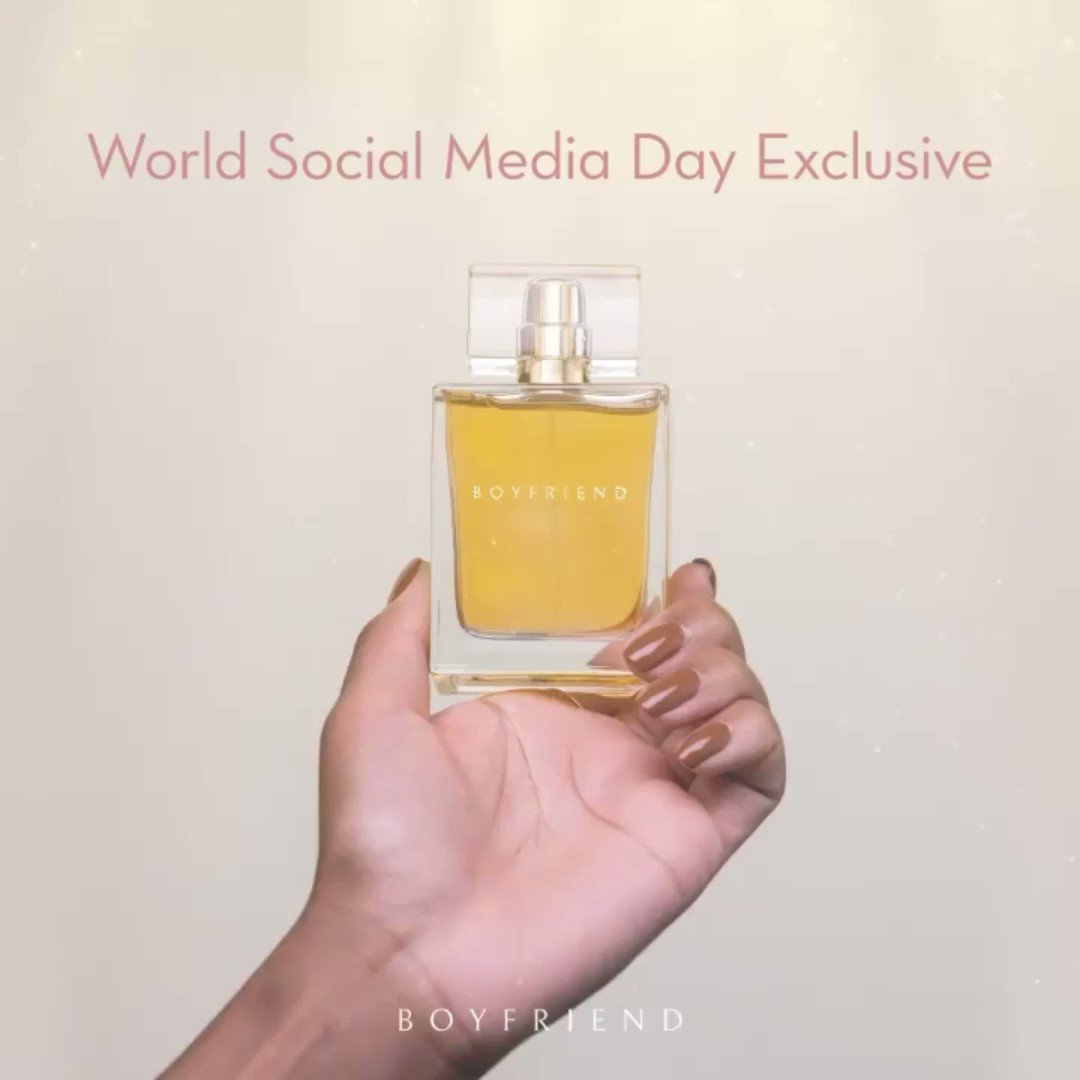 Happy #WorldSocialMediaDay loves! ❤️ Celebrate with 25% off our @Boyfriend 50mL EDP ✨ Just use the code: EDP25 at https://t.co/nSNFYeoVYk 🎉💃 https://t.co/3jsKno3yel