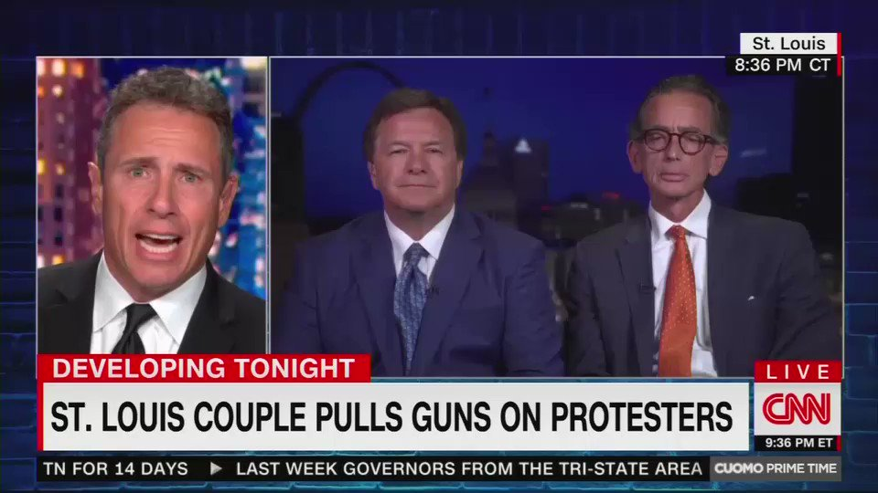 Armed St. Louis homeowner who defended home from protesters absolutely demolishes @ChrisCuomo. This is a must-watch.