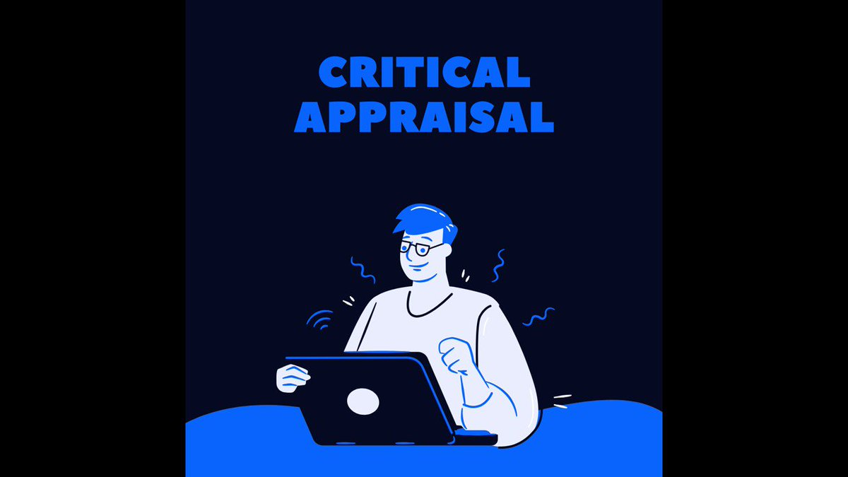 Keeping up to date includes reading critically and reflecting on new articles/literature in your field. Check our #WednesdayWisdom helpful tips to appraising a paper #CriticalAppraisal #CPD #ReflectivePractice #EvidenceBasedPractice