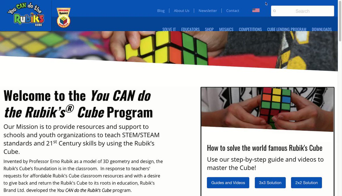 Did you know the You CAN Do the Rubik's Cube program is available for educators in Canada? Just change the flag at the top of our webpage or visit https://t.co/XnmeyH50LB #HappyCanadaDay https://t.co/74MiU4EkNm