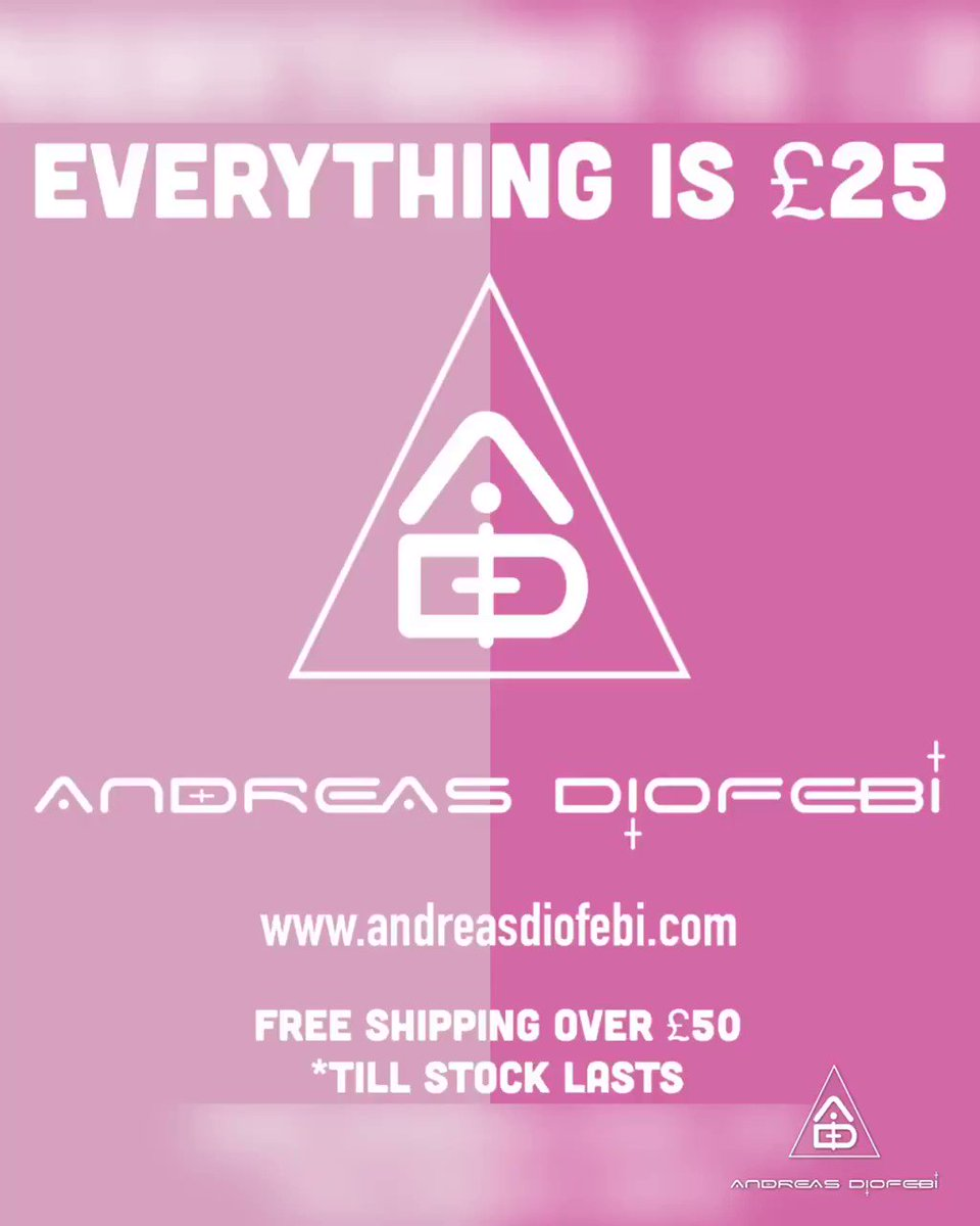 All items are £25 - automatic at checkout. Till stock lasts. Just some of our designs in the video. Enjoyyyy  #twentyfine #buy #wear #love #andreasdiofebipic.twitter.com/EFd9Ebz5OA