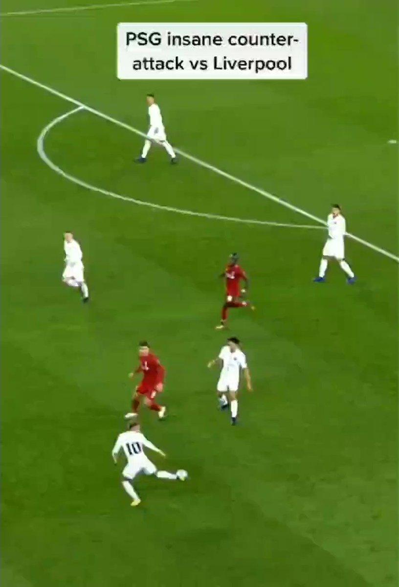Neymar e Mbappé dando aula de contra-ataque contra o Liverpool 🔥