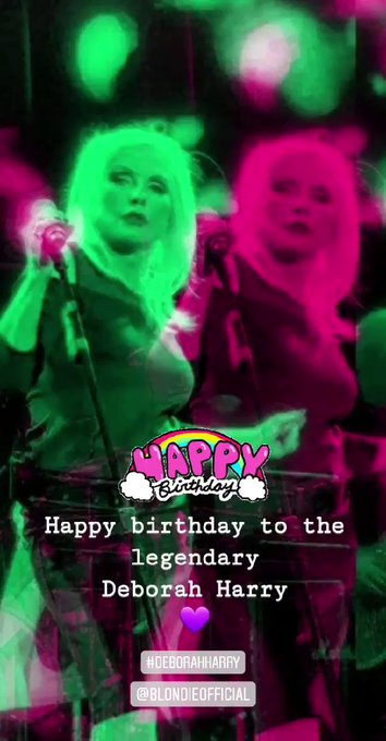 Happy birthday to the legend Deborah Harry. Love this lady.   #