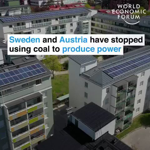 Sweden and Austria have stopped using coal to produce power. They're aiming to get off fossil fuels by 2040 and go 100% #renewables.  We have the solutions to the #ClimateCrisis. Let's implement them. #ActOnClimate   #climate #energy #GreenNewDeal #JustRecoverypic.twitter.com/GW4qotgMbo