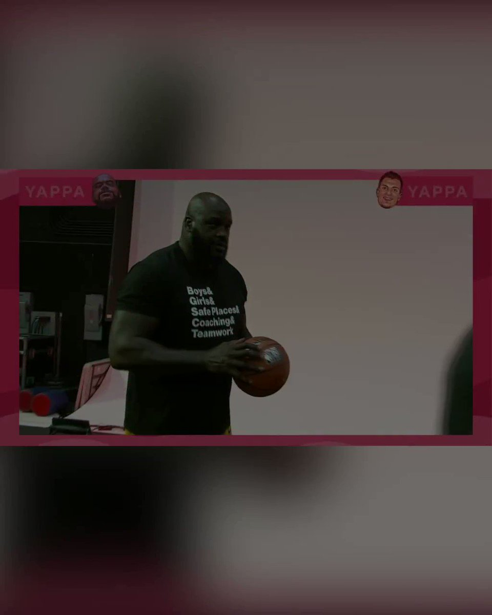 I went head to head with @RobGronkowski in a game of HORSE presented by @yappahq It was game over Shaq style when I showed everyone I still got it with my EPIC dunk https://t.co/L6YEjp6saE