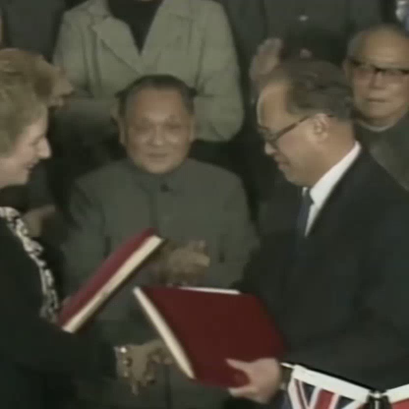 Prime Minister, two days ago you signed an agreement with China promising to deliver over 5 million people into the hands of a communist dictatorship, Emily Lau asked Thatcher in 1984. @Channel4News catches up with her.