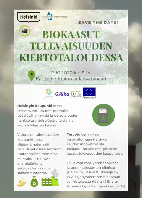 Image for the Tweet beginning: Save the date! Helsingin kaupunki