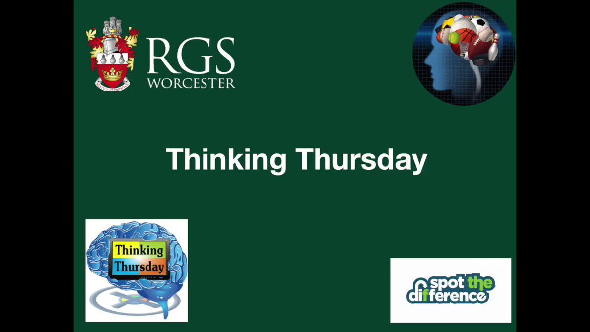 Image for the Tweet beginning: Thinking Thursday @RGSWorcester. Can you