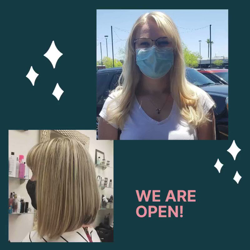 Oh Yes we are open! To learn more visit Mara Kogan Hair Salon at https://bit.ly/2BFU8so  #hairextension #scottssalehair #haircolor #deepconditioning #straightening #hairstylepic.twitter.com/K5RCfFXq8q