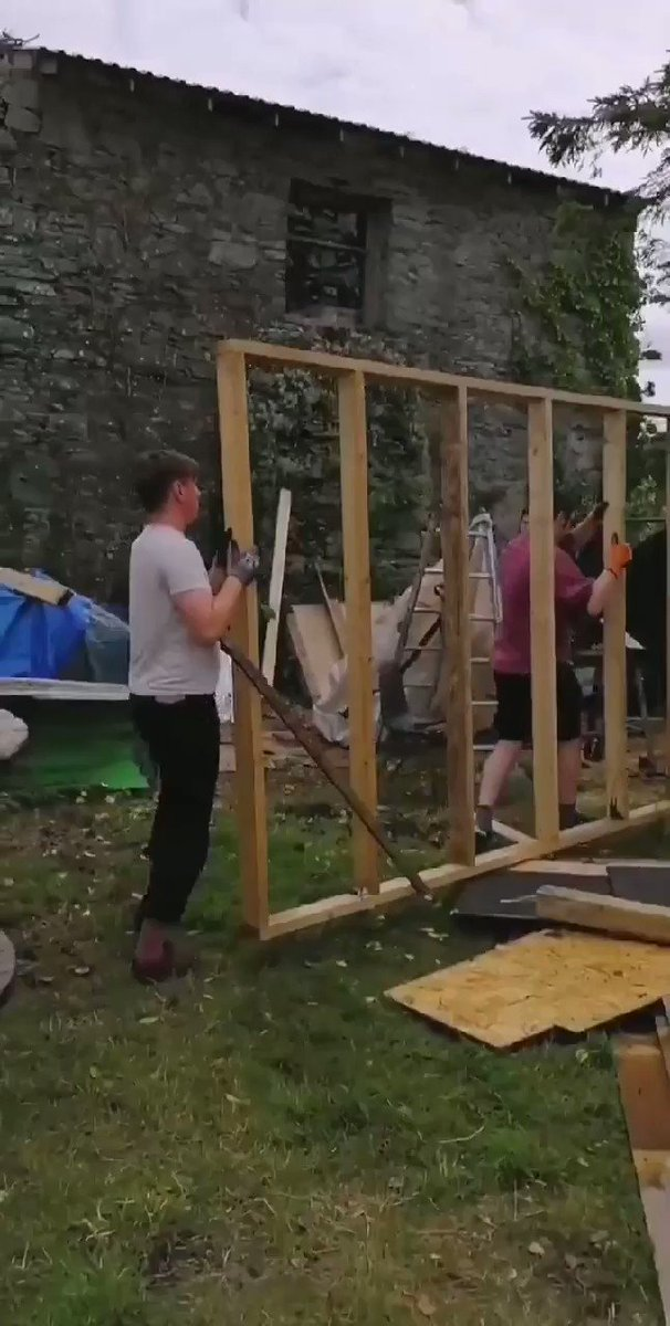 We are building a big shed cause we are DIY boys. Come see our God help America livestream this saturday at 10 xoxoc