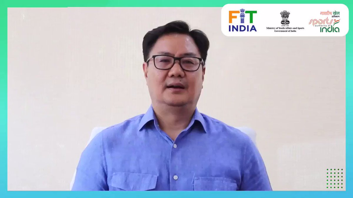 Interact with Honble MoS (I/C), Sh. @KirenRijiju on the inaugural episode of #FitIndiaTalks and get to know some expert fitness tips from him! Dont forget to tune in on @FitIndiaOffs YouTube channel on 3rd July at 5 pm ➡️ bit.ly/2yVBUSa. Here is his message 👇