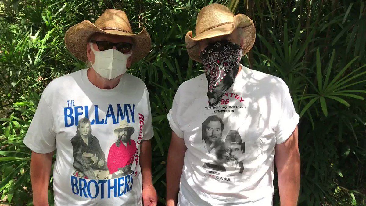 Keep checking our website bellamybrothers.com/tour for concert updates...and check out these t-shirts ⬇️ #throwbackthursday