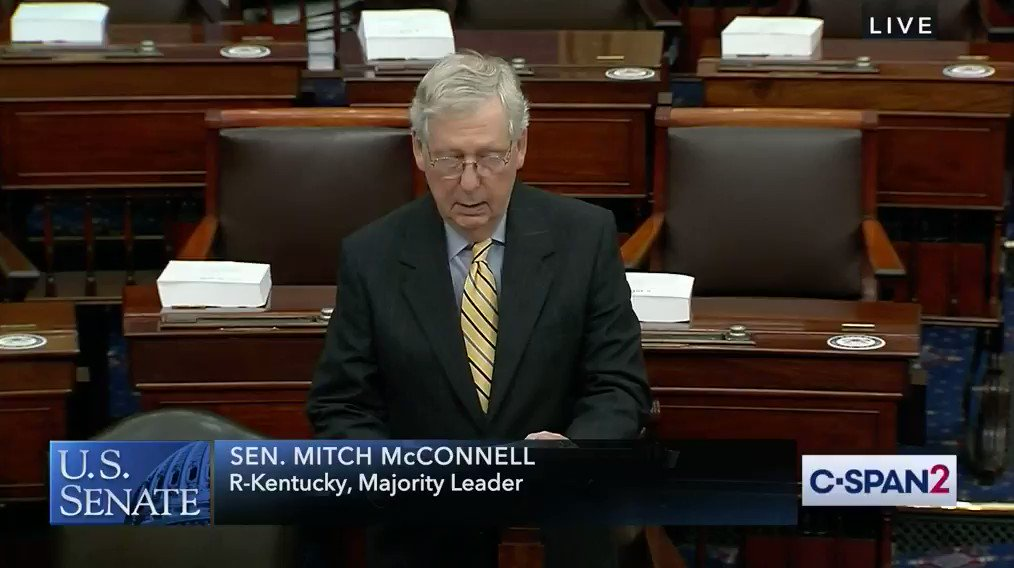 🚨 BREAKING 🚨 @senatemajldr just ATTACKED our movement for #DCStatehood on the Senate floor! Hey Mitch— you're damn right we will change the rules to stand up against the systemic racism that has disenfranchised Black & Brown Washingtonians for over 200 years.
