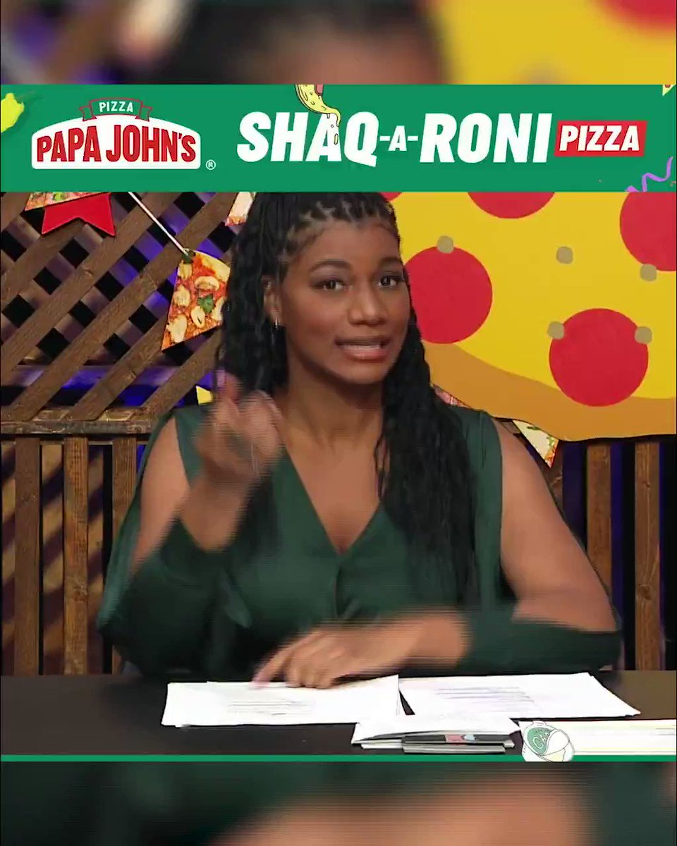 Finally, a slice big enough for MY hand 🤚🏿Introducing the new Shaq-A-Roni pizza, loaded w/ extra pepperoni & cheese on fresh dough, stretched thin w/ toppings to the edge. @PapaJohns will donate $1 from every purchase to The Papa John's Foundation for Building Community. https://t.co/juNkerlcfL