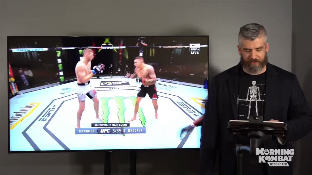 There isn't enough appreciation of Poirier's technical mastery & creativity.  Big reason why he won vs. Hooker is his ability to break the 'rules' of foot positioning in open stance. That was enabled by his ability to split Hooker's timing.  Full vid: https://t.co/jiXDzdn73l https://t.co/NzFUEn6jXQ