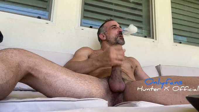 Just smoking a blunt and stroking my fat cock on the porch this morning. Want to see the full video SUBSCRIBE