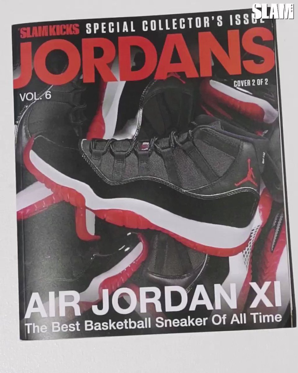 Quick look inside our brand new issue all about the Jordan XI, ONLY available at slam.ly/vol6-breds