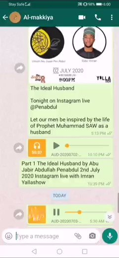 Be nice to your wives. The Prophet SAW would seek the advice of his wives and heed to the advice. Does it make one less of a husband if he seeks for his wives advice?
